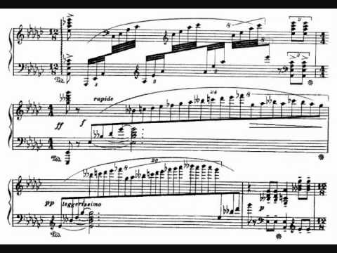 Respighi, Notturno for piano (1904), with score