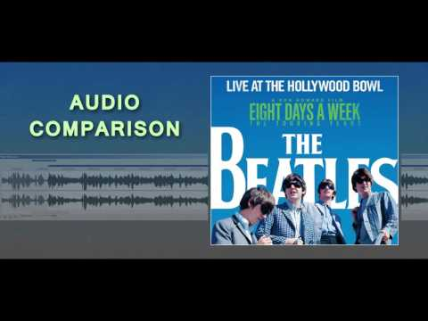 Beatles -- Hollywood Bowl live -- [ new vs. old audio! Very different ]
