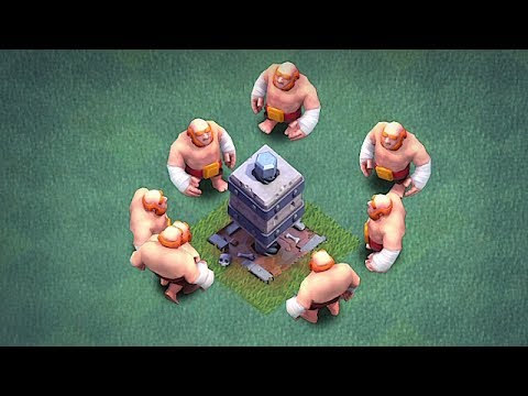 GIANTS Vs. CRUSHER | USING THE CLOCK TOWER | Clash Of Clans