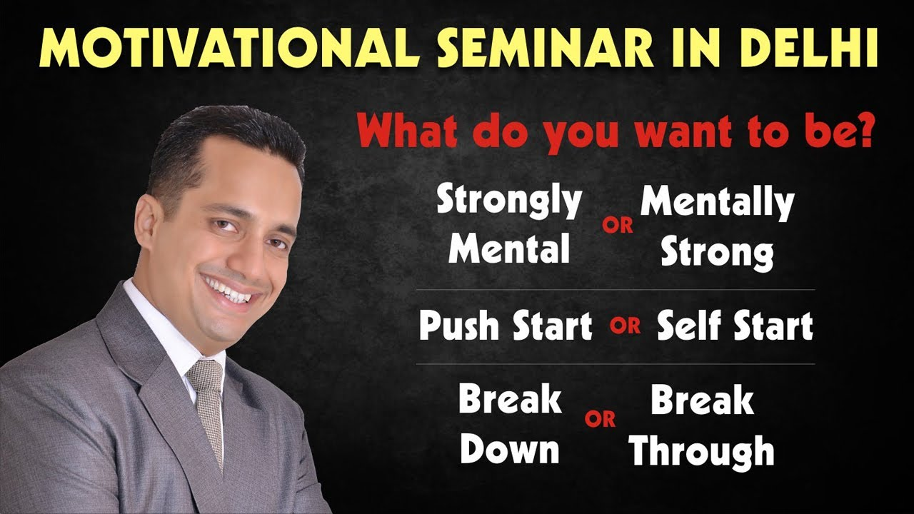 Best Motivational Seminar/Speaker/Workshop In Delhi India by Vivek Bindra