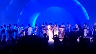 Kallen Esperian and Kirk Whalum with Stax Academy at the Levitte Shell