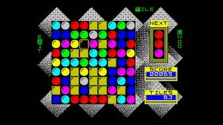 Gem Slider (2018) Gameplay, ZX Spectrum