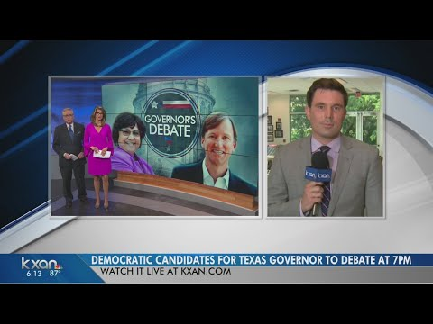 Democratic candidates for Texas governor to debate Friday evening