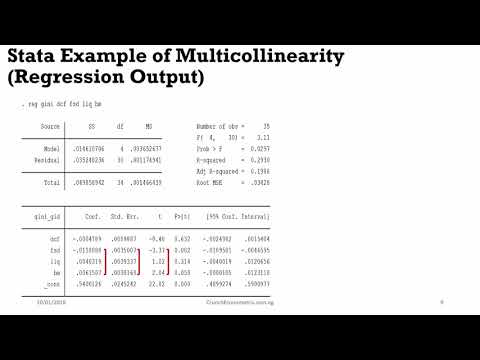 (Stata13):Multicollinearity Explained