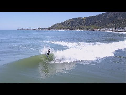 4K Aerial Raw Surfing Video of a Solo Session | Kilian Garland