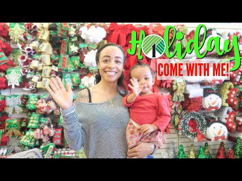COME WITH ME TO DOLLAR TREE! MAKEUP ORGANIZERS, CHRISTMAS GALORE + MORE!