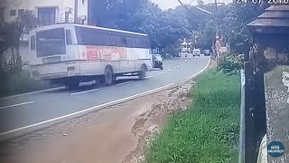 Accident In Kerala KSRTC Bus CCTV video, India July 2018