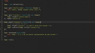 Tutoriel PHP : Slim Framework