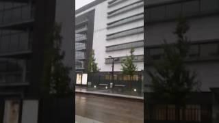 Paris ce matin  orage et pluie battante 😈