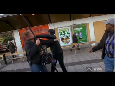 Migrants attack 60 minutes crew in Sweden!