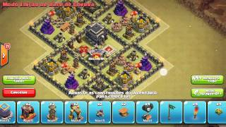 Clash Of Clans - Melhor Layout de Guerra para Centro de Vila 9 - 2015 (Best Town Hall 9 War Base) #1