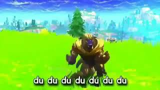 Thanos and  spider man in fortnite (kids song baby shark)