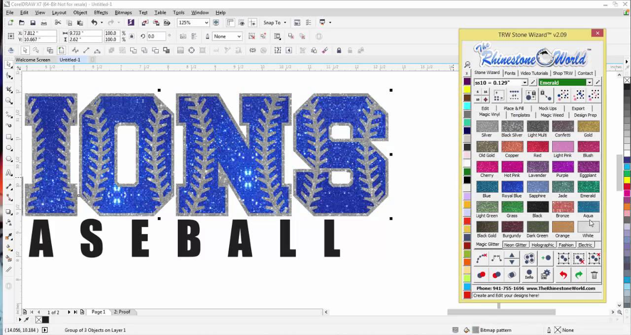 How To Make A Custom Baseball Softball Glitter Shirt Design In