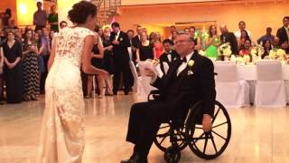 Fantastic Wheelchair Father Daughter Wedding Dance