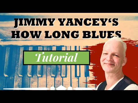 How to play How Long Blues on piano, easy but so beautiful!