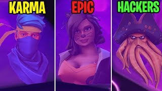 SEASON 6 SKINS REVEALED! KARMA vs EPIC vs HACKERS - Fortnite Funny Moments 287