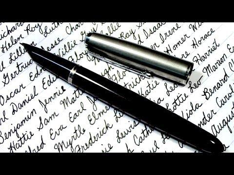 Writing Popular Names from 1880 - Satisfying ASMR