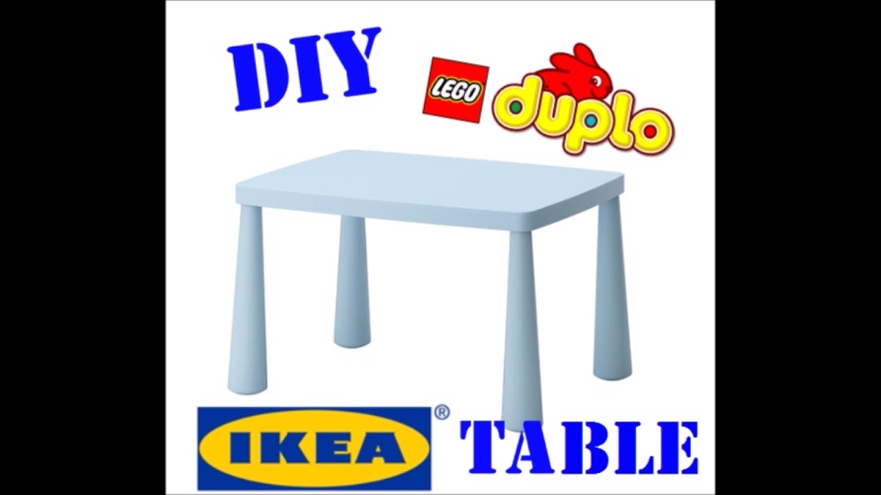 DIY How do i make a easy and fast LEGO DUPLO table - YouTube