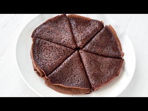 Как приготовить шоколадные блины