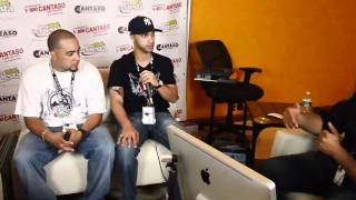 DJ Cruel one getting interviewed at the Latin Mixx Awards