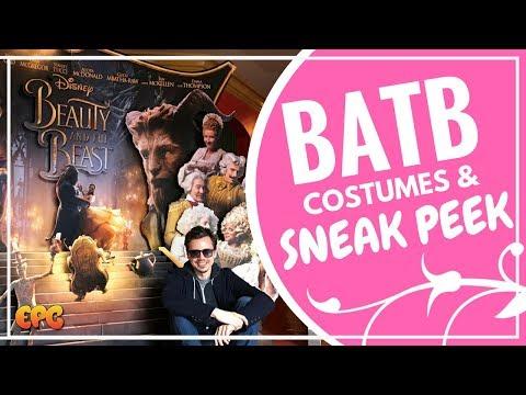 EMMA WATSON BEAUTY AND THE BEAST SNEAK PEEK   2017 COSTUME   DISNEYLAND EXCLUSIVE