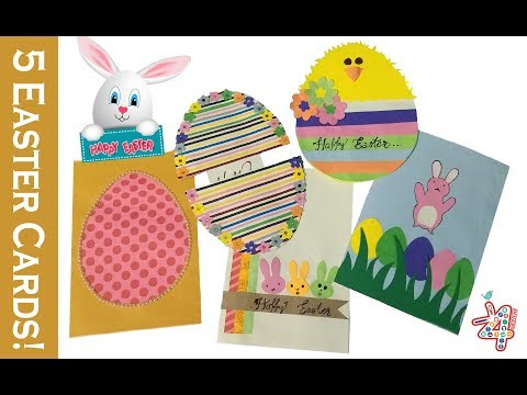 5 FUN Easter Cards! Handmade paper cards for kids 🐰
