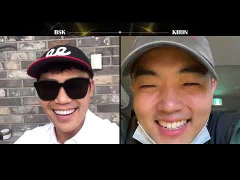 김범수X기린(KIRIN)화상통화로 의논중