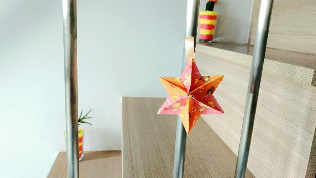 DIY 3D Star Christmas Tree Topper