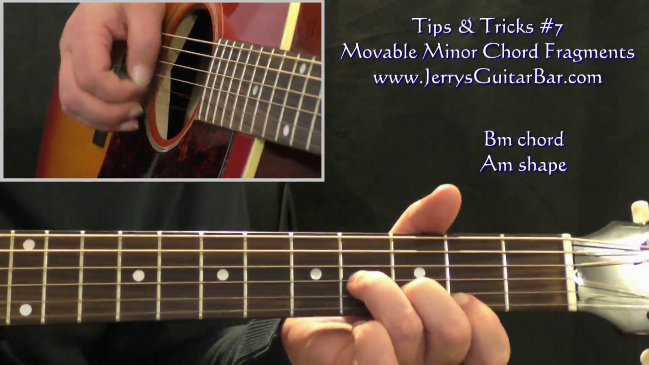 Tips Tricks 7 Movable Minor Chord Fragments Youtube