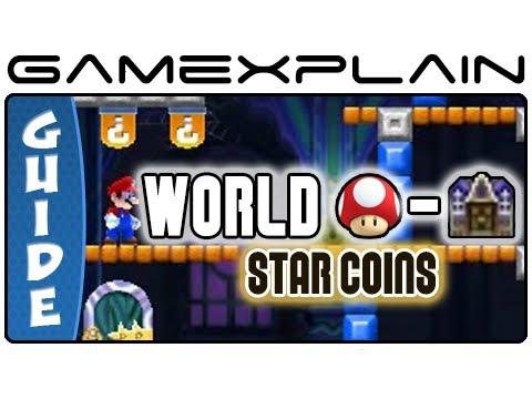 New Super Mario Bros 2 Mushroom World Ghost House Star Coin Guide Walkthrough Nintendo 3ds Youtube