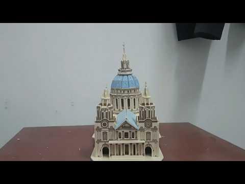 Lắp ráp mô hình nhà thờ S.T Pauls CATHEDRAL Bằng gỗ - Woodcraft Construction Kit 3D
