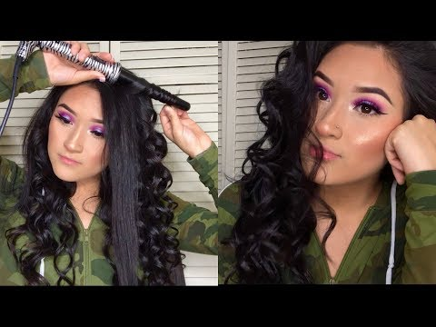 Easiest way to curl your own hair with a wand