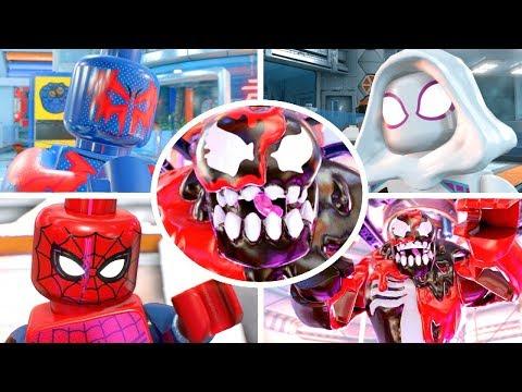 LEGO Marvel Super Heroes 2 Walkthrough Part 11 - Survive the Symbiotes Genetic Lab & Defeat Carnom