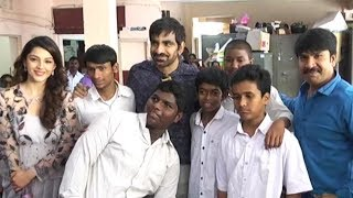 Raja The Great Movie Team Visits Visually Challenged Kids @ Devnar School   TFPC