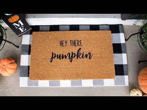DIY Doormat for Fall