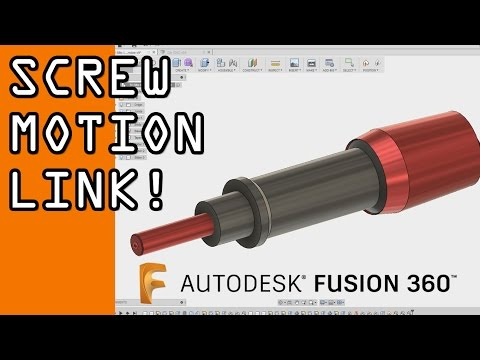 Fusion 360 Joints & Motion Link Tutorial: Micrometer Screw! FF77