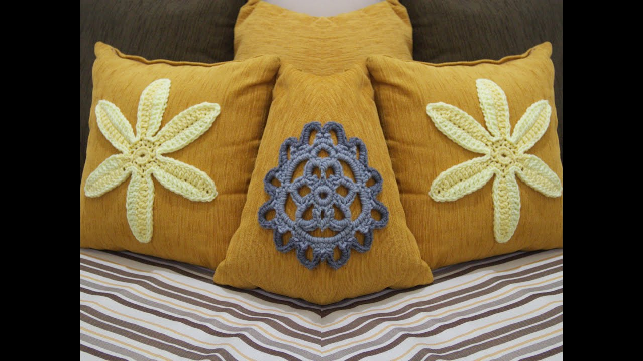 DIY Room Decoration Decorative Cushion Cover Crochet Flower