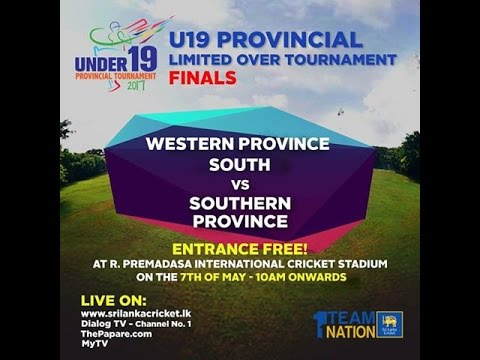 U19 Provincial Tournament Final - Southern Province vs Western Province South