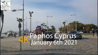 January 6th 2021 Around Paphos Cyprus 4K