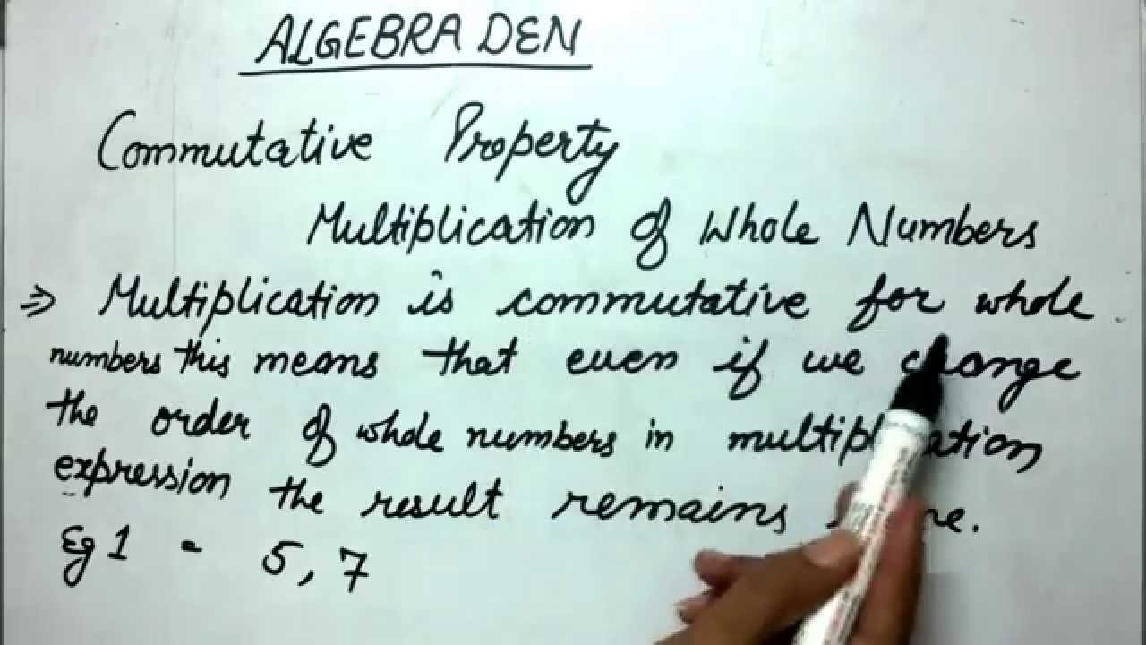 Commutative Property (Multiplication of Whole Numbers - Example 1 ...
