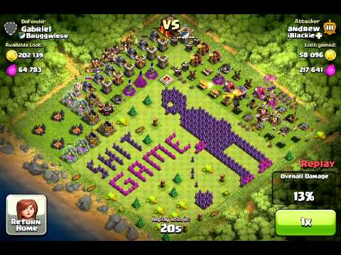 clash of clan funny base map youtube
