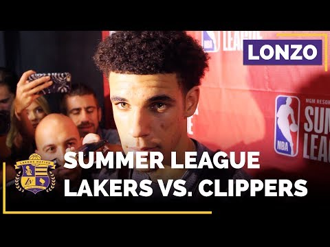 Lonzo Ball After His Lakers NBA Summer League Debut