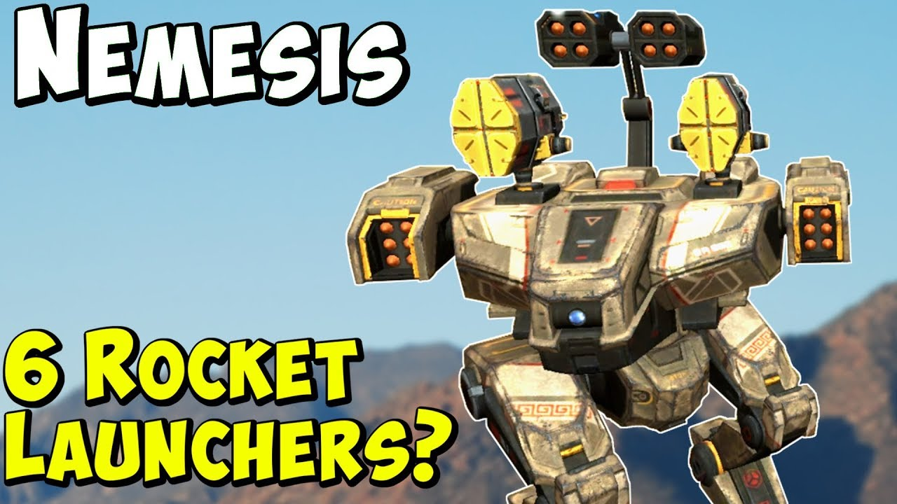 New Robot NEMESIS with 6 Rocket Launchers - War Robots Test Server WR