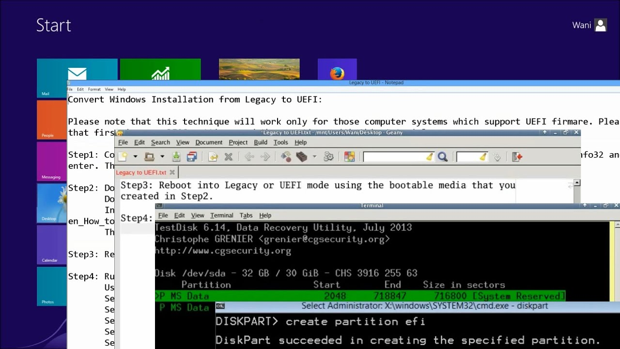 How To Convert Windows 788110 Installation From Legacy To Uefi