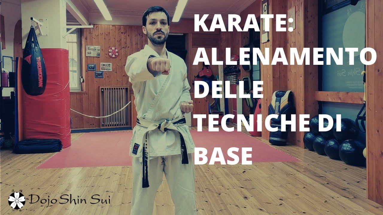 Karate: allenamento delle tecniche di base