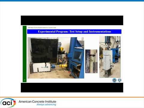 FRP Shear Friction Reinforcement for Concrete Joints