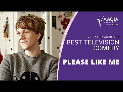 3rd AACTA Awards - PLEASE LIKE ME acceptance speech
