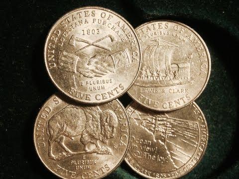 2004-2005 Westward Journey Nickels (Louisiana Purchase/Peace Medal, Keelboat, Buffalo, Ocean in View