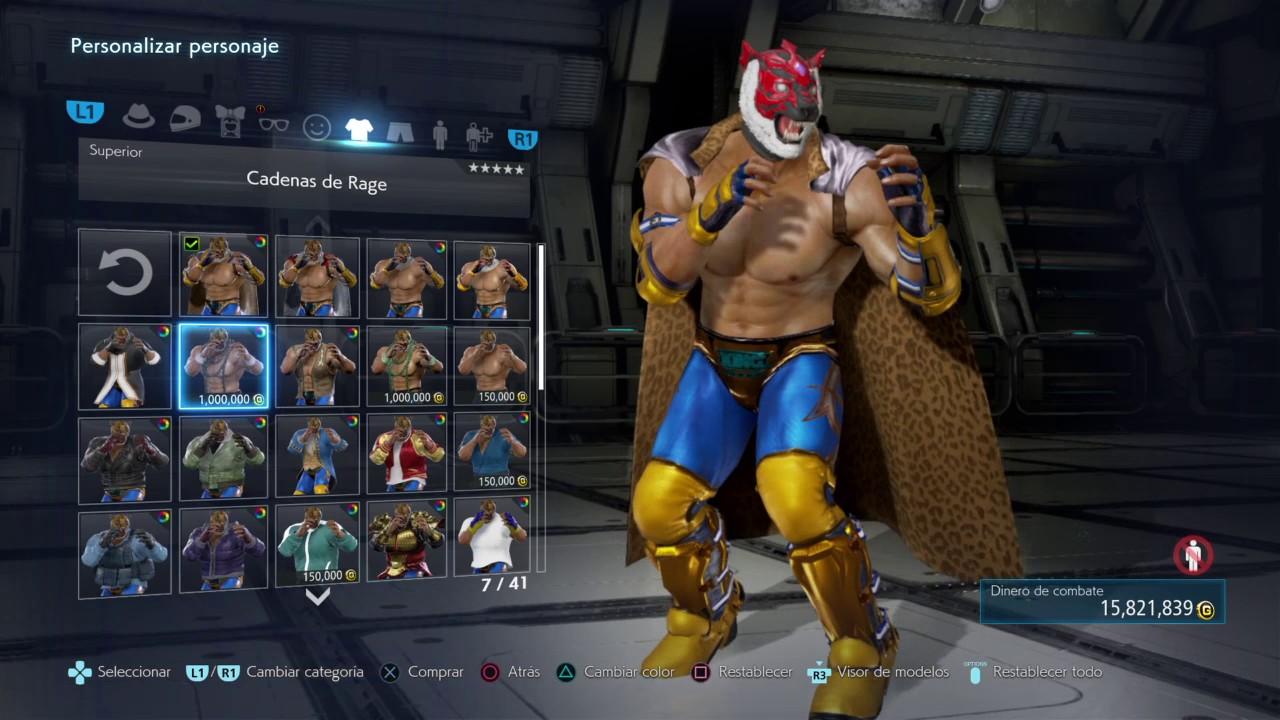 Tekken7 Character Customization King Tiger Mask W Tiger Mask