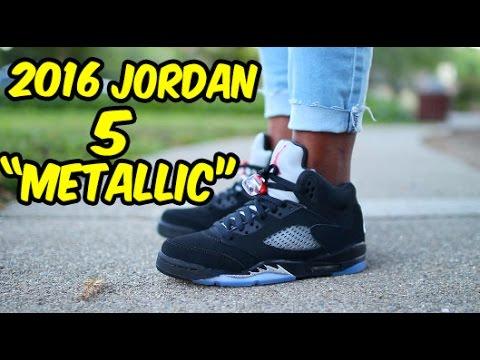 buy popular 6bbd4 d6fba 2016 Jordan 5 Metallic REVIEW W/ ON FOOT @FootLocker